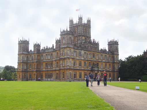 "Drehoprt der Serie ""Downton Abbey"": Highclere Castle in England. (c) Pohl"