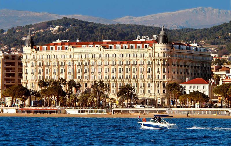 Cannes Nizza gewesen sein -- das Intercontinental Hotel Carlton wurde im Film berühmt. (c) IHG