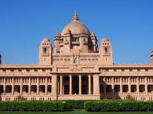 Einst Palast, heute auch Luxushotel: Der Umaid Bhawan Palace in Jodhpur. (c) Pohl
